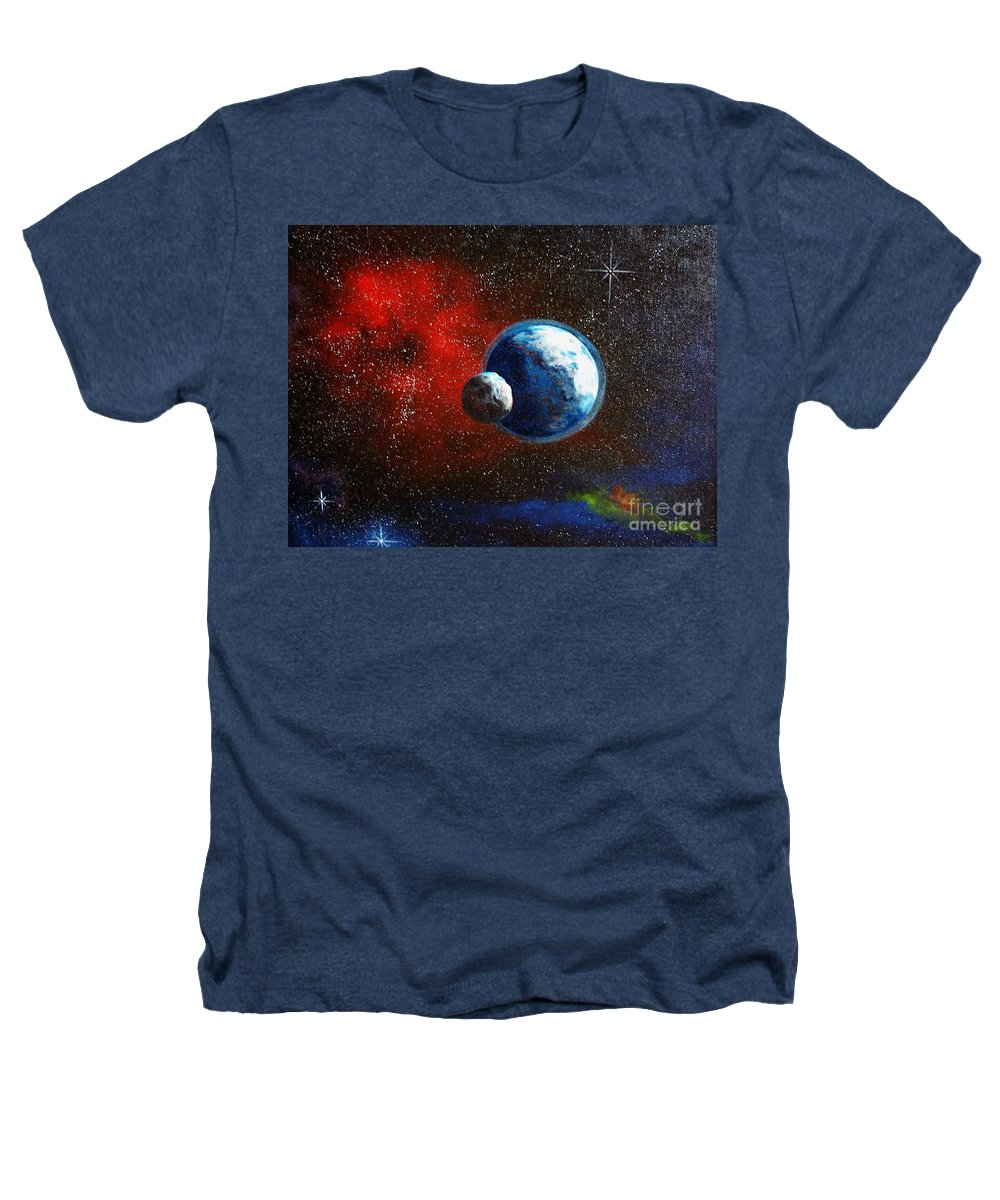 Astro Heathers T-Shirt featuring the painting Broken Moon by Murphy Elliott