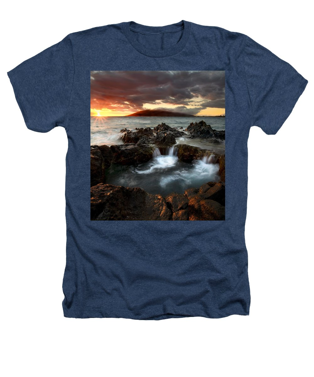 Sunset Heathers T-Shirt featuring the photograph Bubbling Cauldron by Mike Dawson