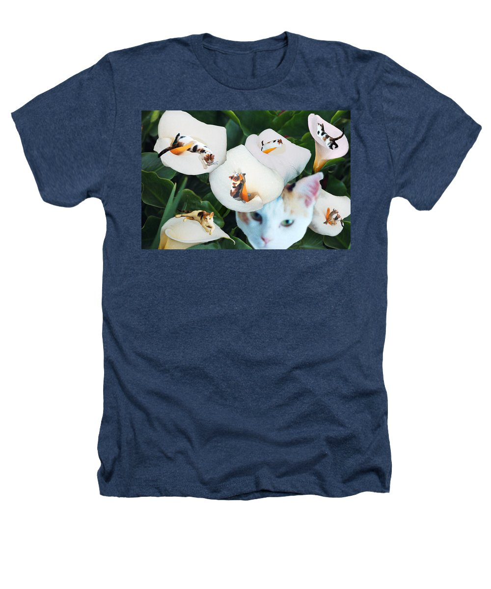 Cat Heathers T-Shirt featuring the digital art Cala In Callas by Lisa Yount