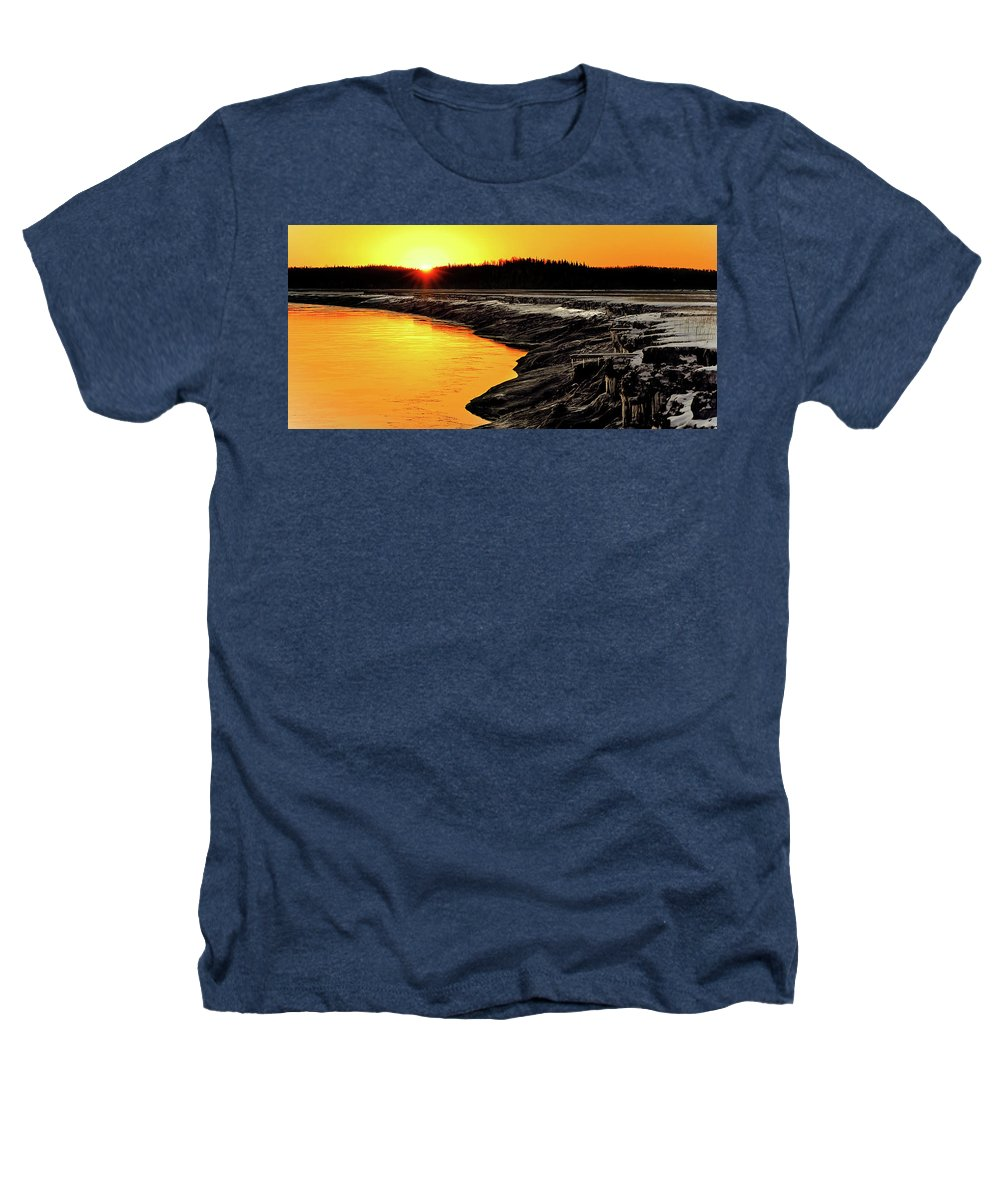 Alaska Heathers T-Shirt featuring the photograph Contrasts In Nature by Ron Day