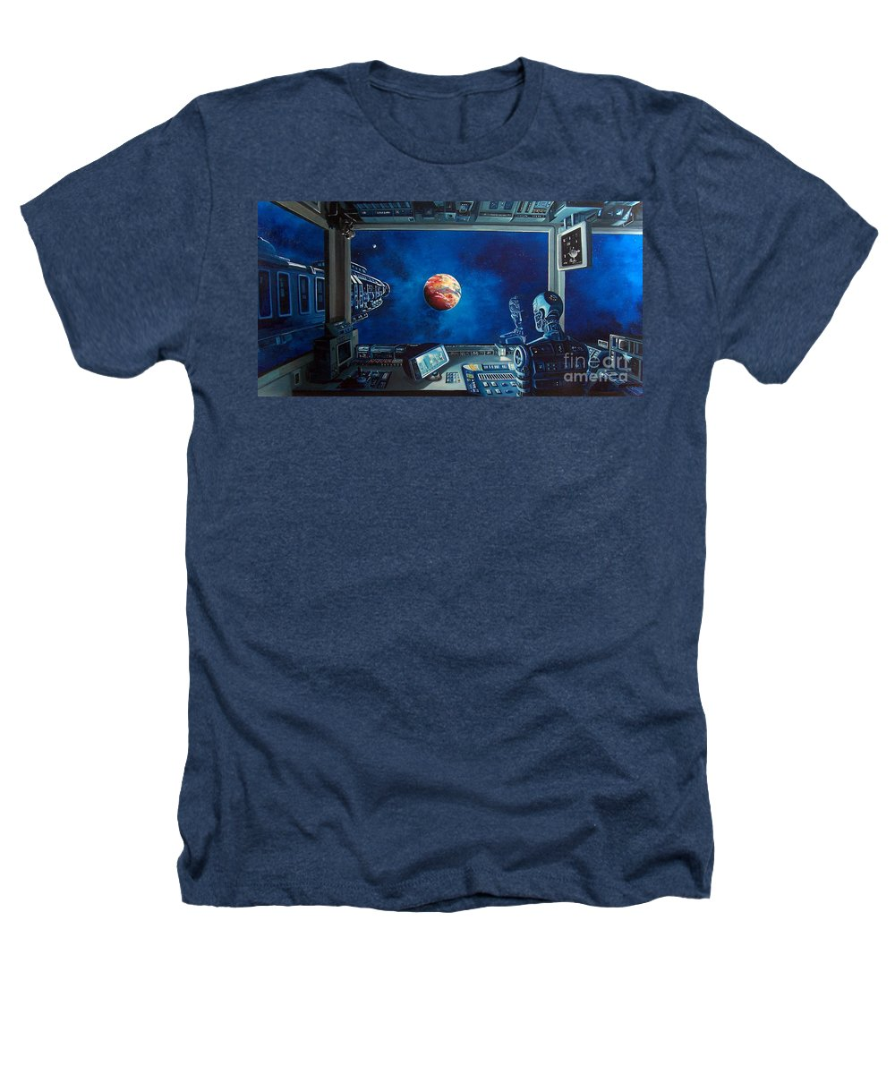 Fantasy Heathers T-Shirt featuring the painting Crying Robot by Murphy Elliott