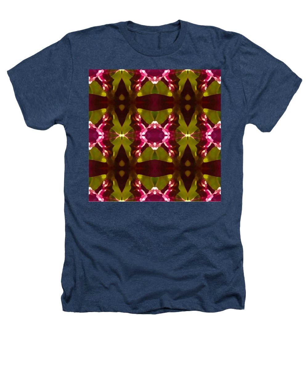 Abstract Heathers T-Shirt featuring the painting Crystal Butterfly Pattern by Amy Vangsgard