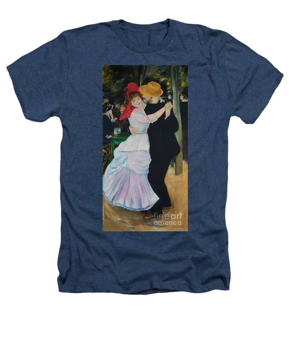 Impressionism Heathers T-Shirt featuring the painting Dance At Bougival Renoir by Eric Schiabor