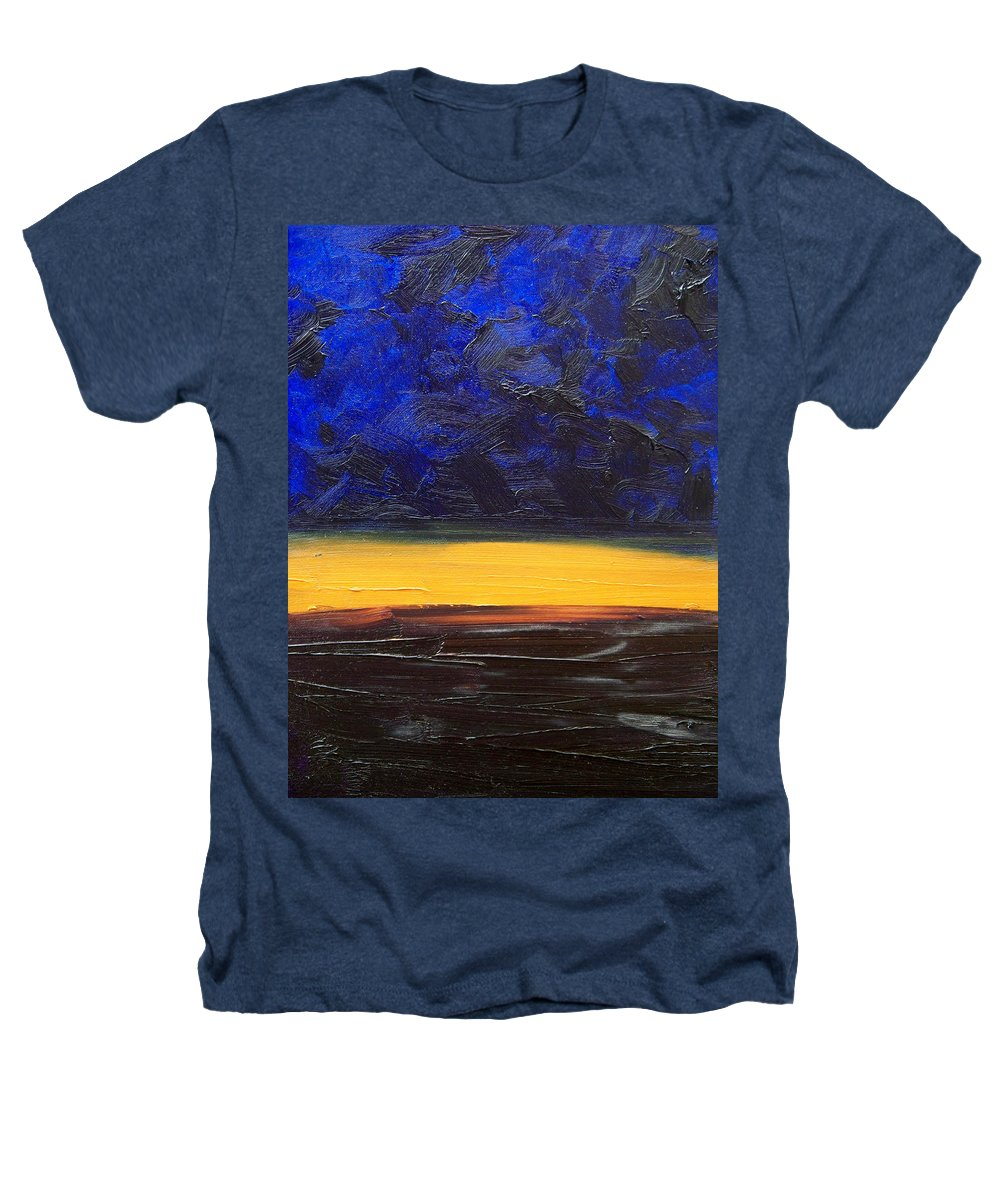 Landscape Heathers T-Shirt featuring the painting Desert Plains by Sergey Bezhinets