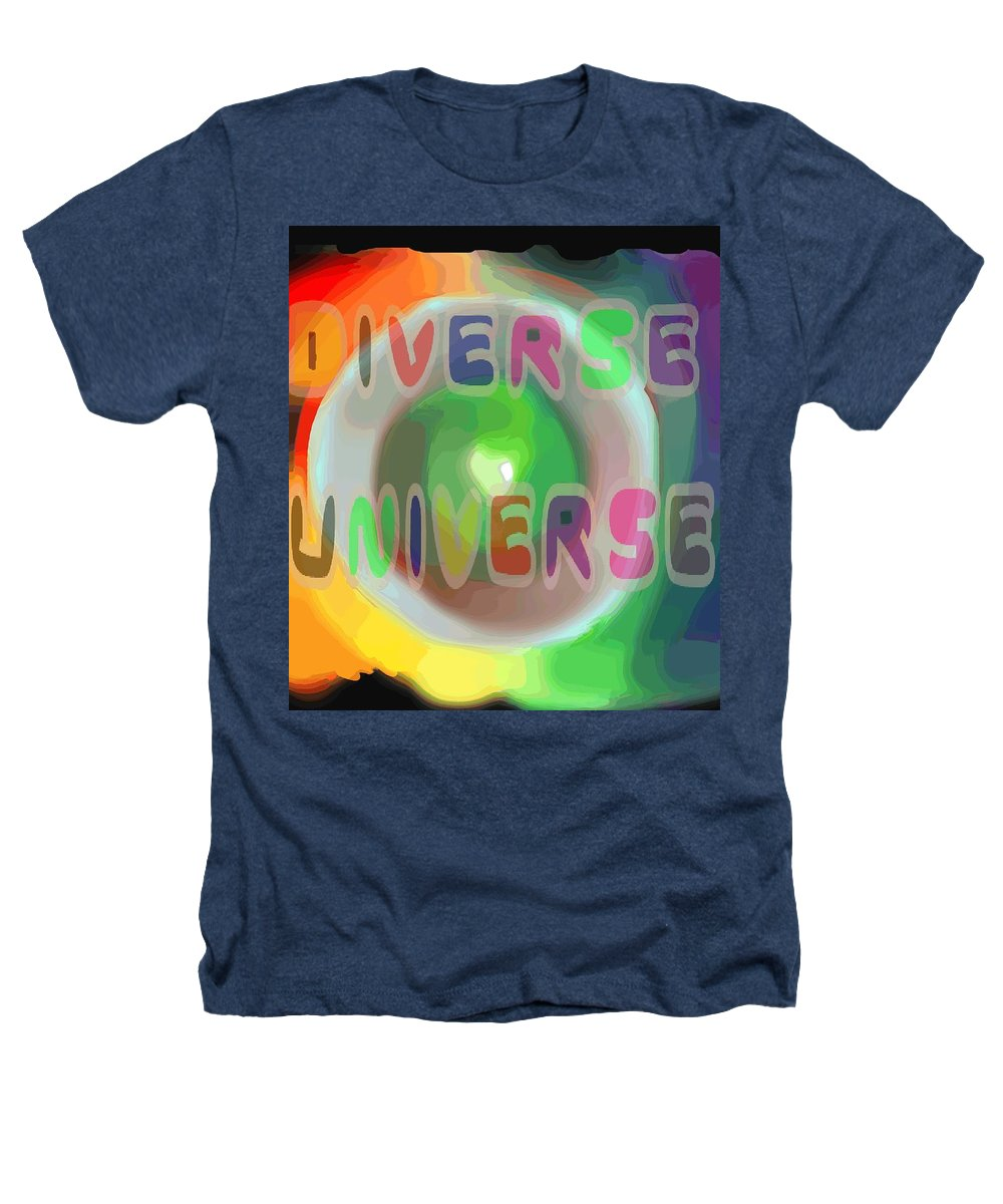 Diverse Heathers T-Shirt featuring the painting Diverse Universe by Pharris Art