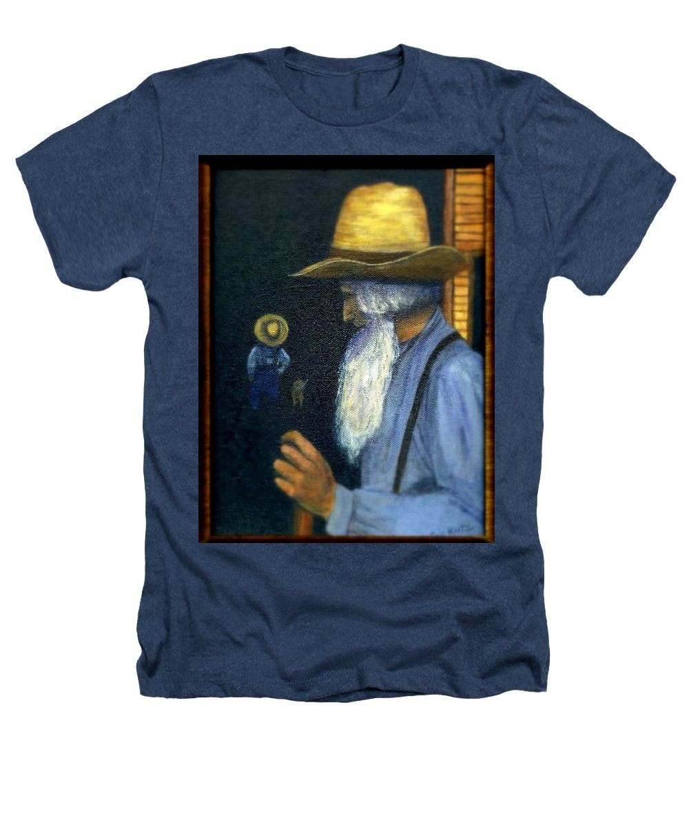 Men Heathers T-Shirt featuring the painting Eli Remembers by Gail Kirtz