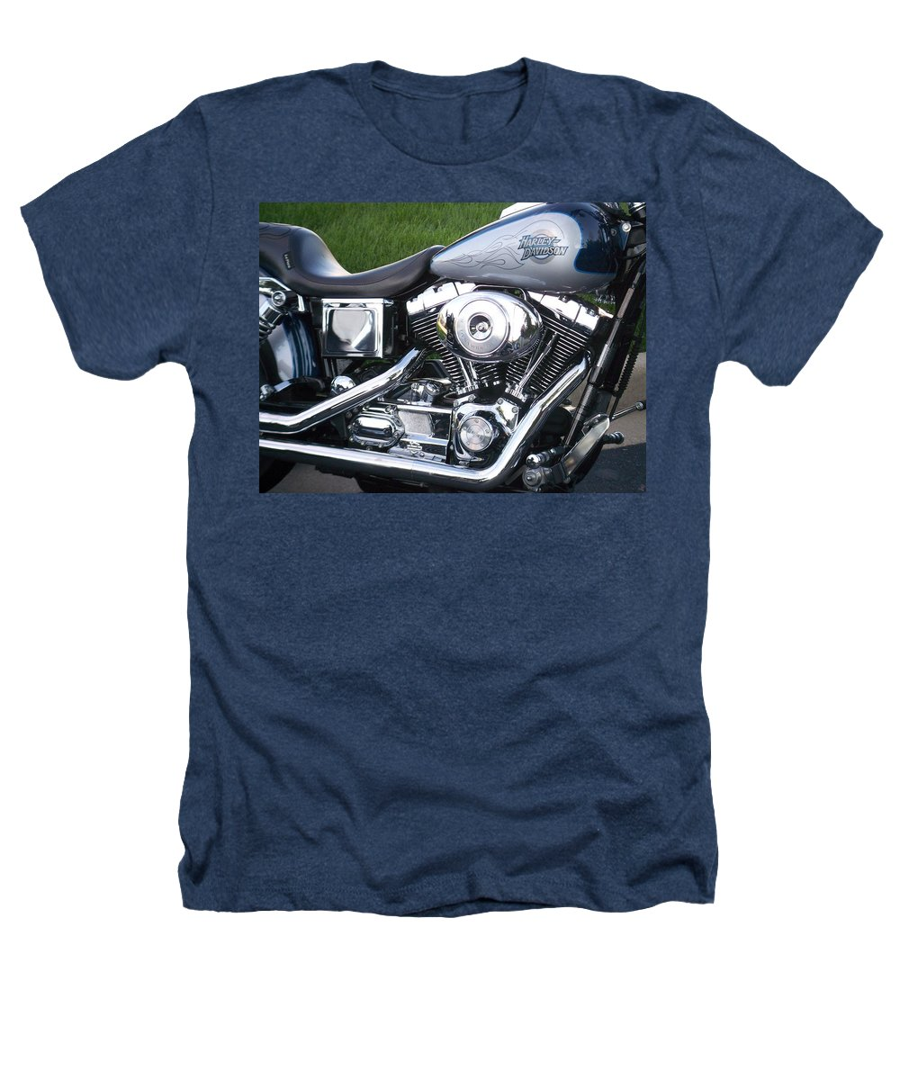 Motorcycles Heathers T-Shirt featuring the photograph Engine Close-up 5 by Anita Burgermeister