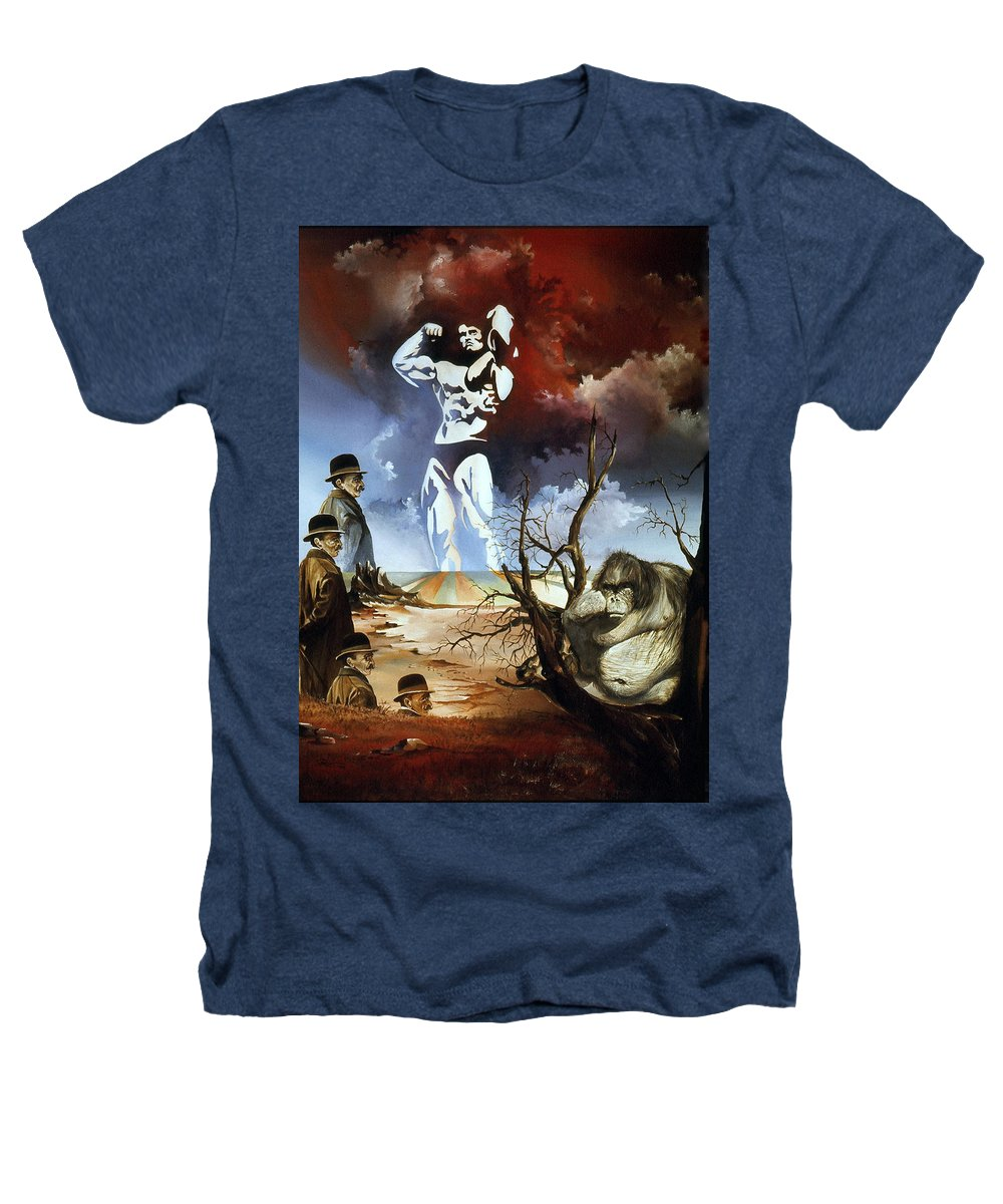Surrealism Heathers T-Shirt featuring the painting Evolution by Otto Rapp