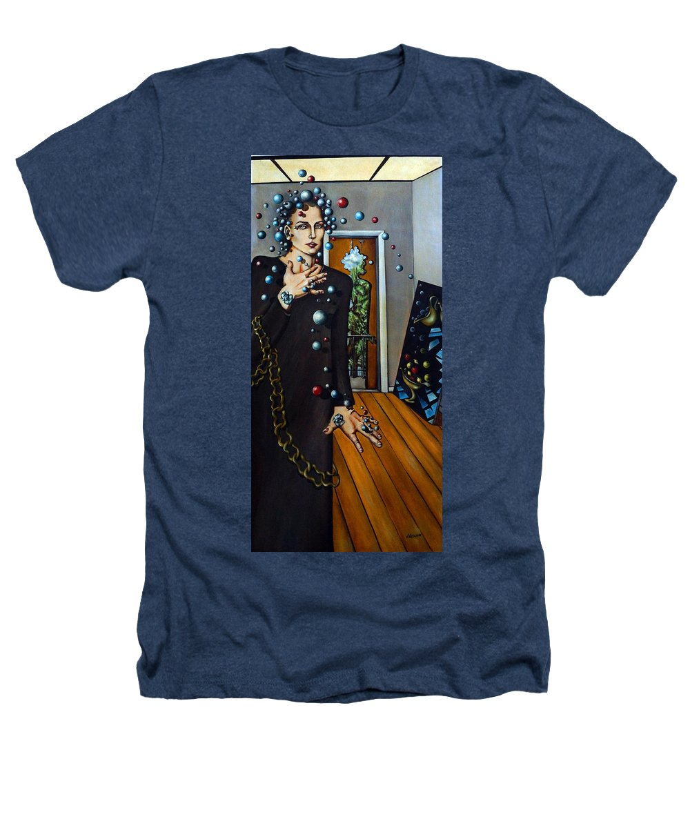 Surreal Heathers T-Shirt featuring the painting Existential Thought by Valerie Vescovi