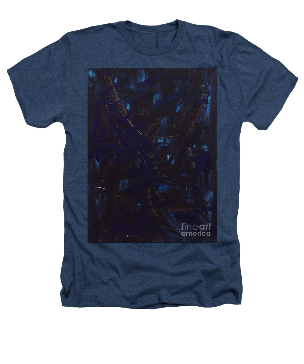 Abstract Heathers T-Shirt featuring the painting Expectations Blue by Dean Triolo
