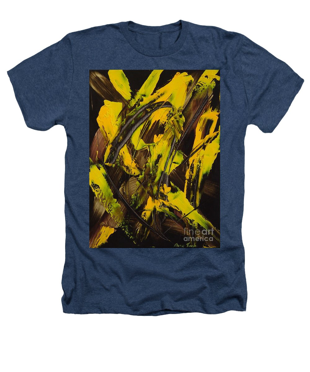 Abstract Heathers T-Shirt featuring the painting Expectations Yellow by Dean Triolo