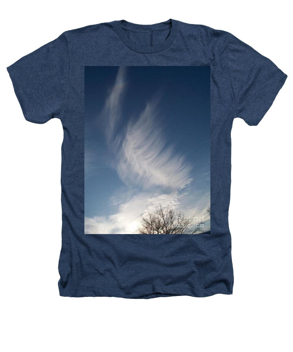Angel Heathers T-Shirt featuring the photograph Feather Cloud By Diane Schiabor by Eric Schiabor