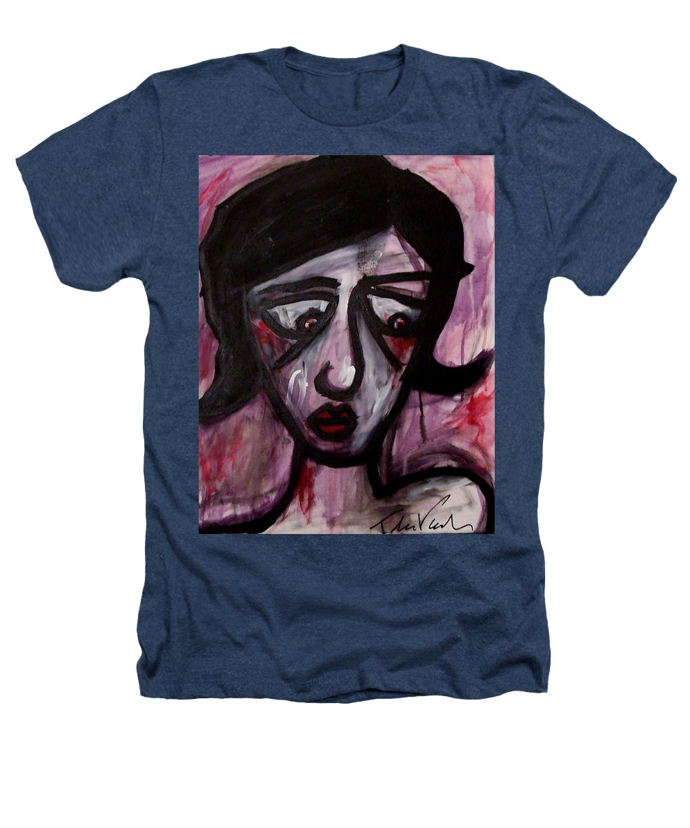 Portait Heathers T-Shirt featuring the painting Finals by Thomas Valentine