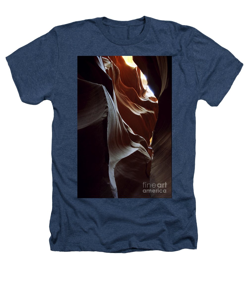Antelope Canyon Heathers T-Shirt featuring the photograph Follow The Light by Kathy McClure