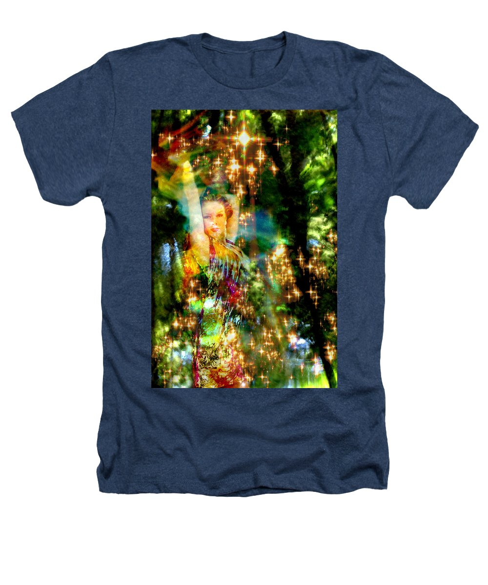 Forest Heathers T-Shirt featuring the digital art Forest Goddess 4 by Lisa Yount
