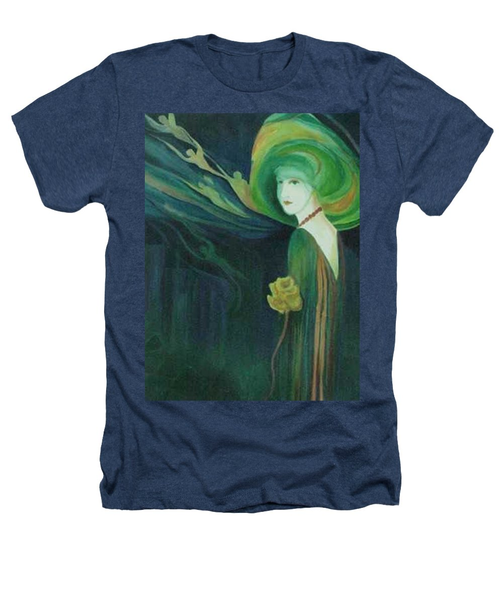 Women Heathers T-Shirt featuring the painting My Haunted Past by Carolyn LeGrand