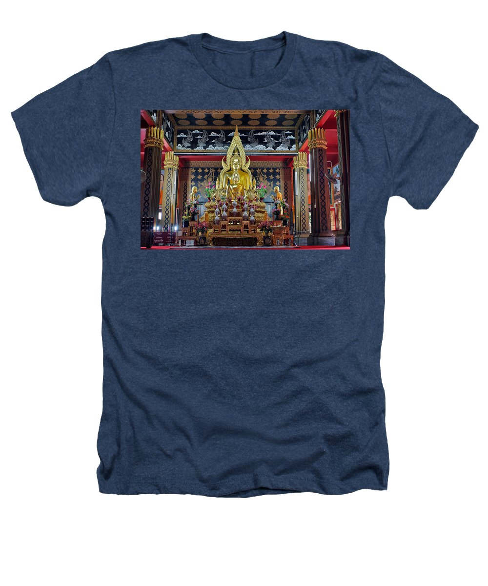 3scape Heathers T-Shirt featuring the photograph Golden Buddha by Adam Romanowicz