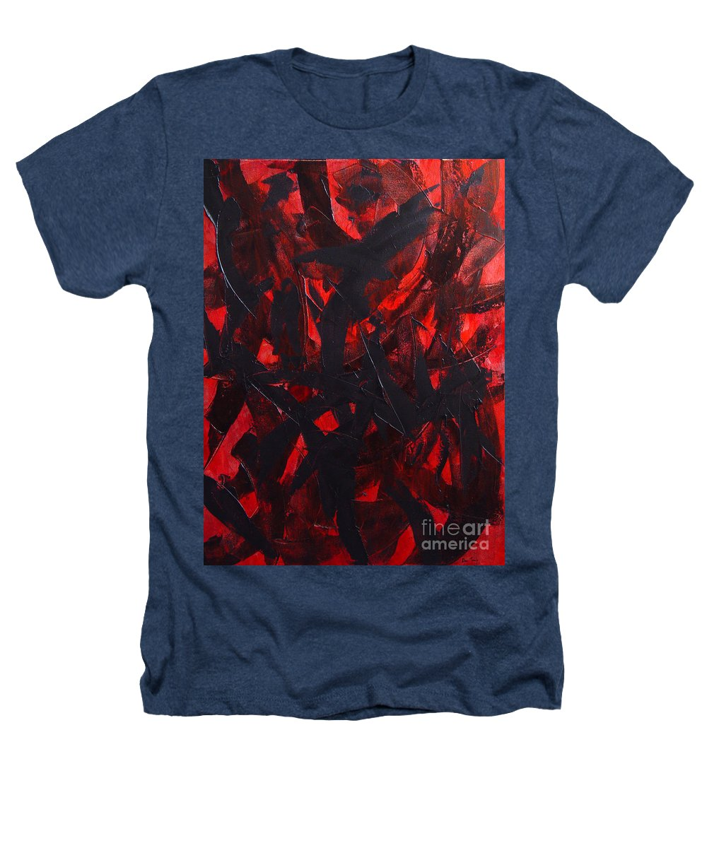 Abstract Heathers T-Shirt featuring the painting Good Bye by Dean Triolo