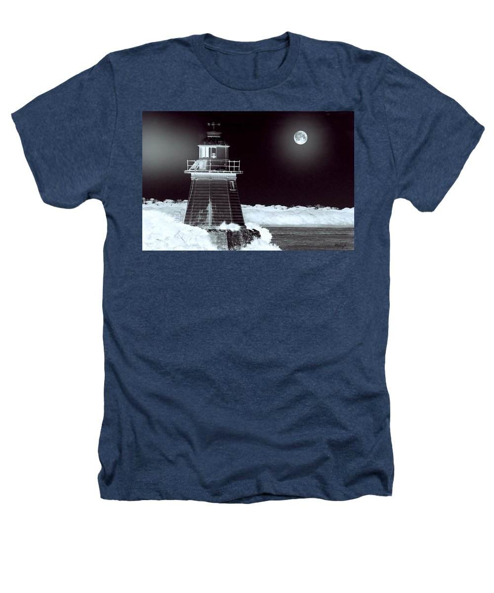 Landscapes Heathers T-Shirt featuring the photograph Guiding Lights by Holly Kempe