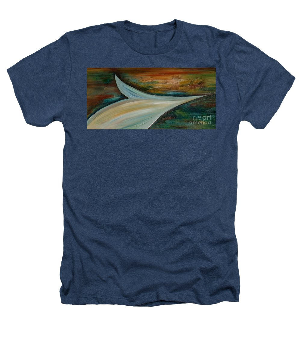 Modern Art Heathers T-Shirt featuring the painting Heaven by Silvana Abel
