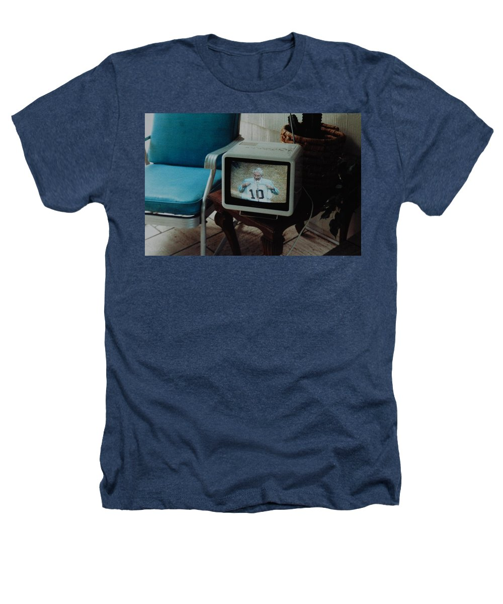 New York Yankees Heathers T-Shirt featuring the photograph Holy Cow Phil Rizzuto Retired Yankee Number On 08 04 1985 by Rob Hans
