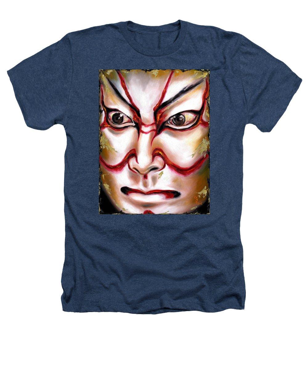 Kabuki Heathers T-Shirt featuring the painting Kabuki One by Hiroko Sakai
