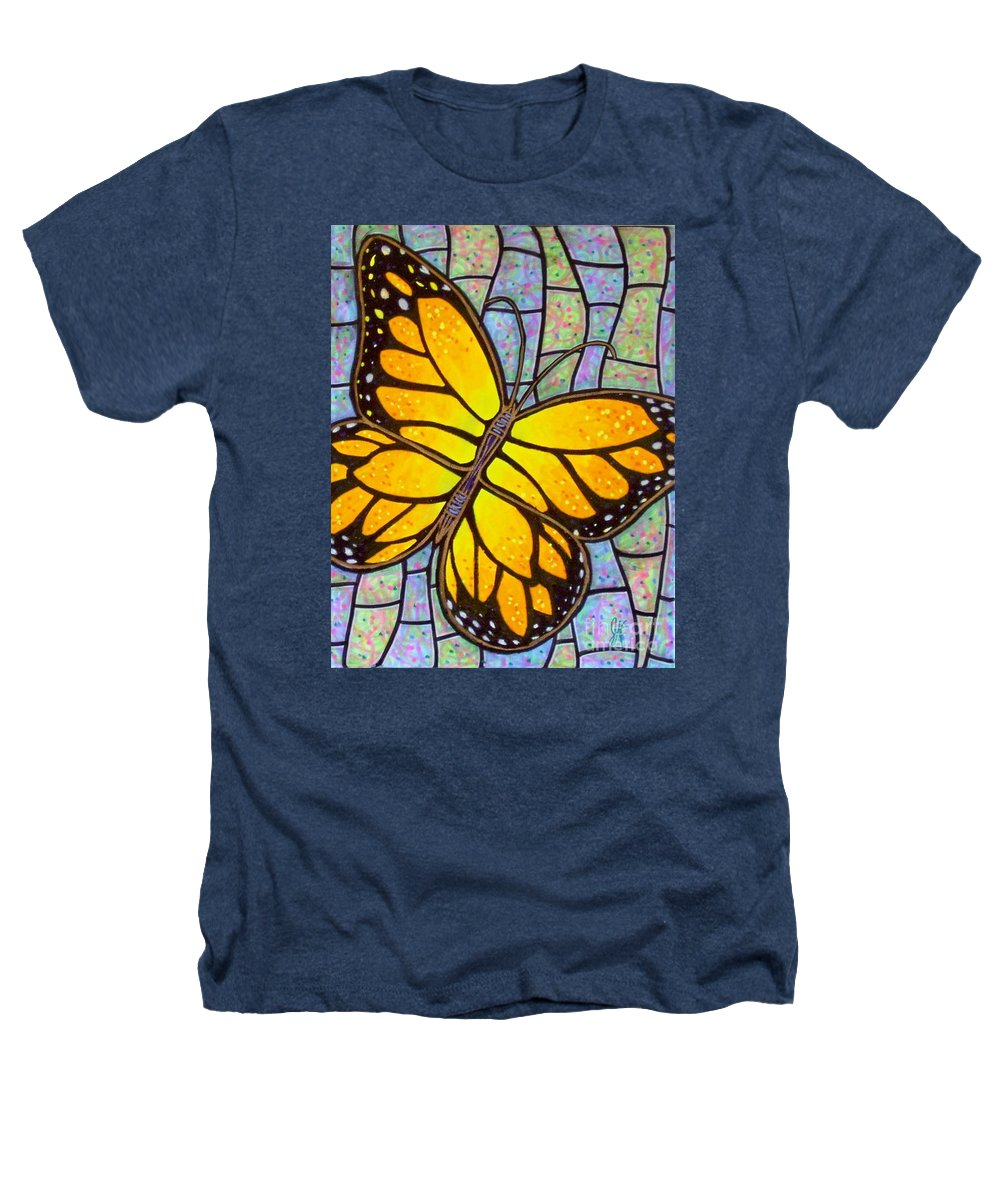 Butterflies Heathers T-Shirt featuring the painting Karens Butterfly by Jim Harris