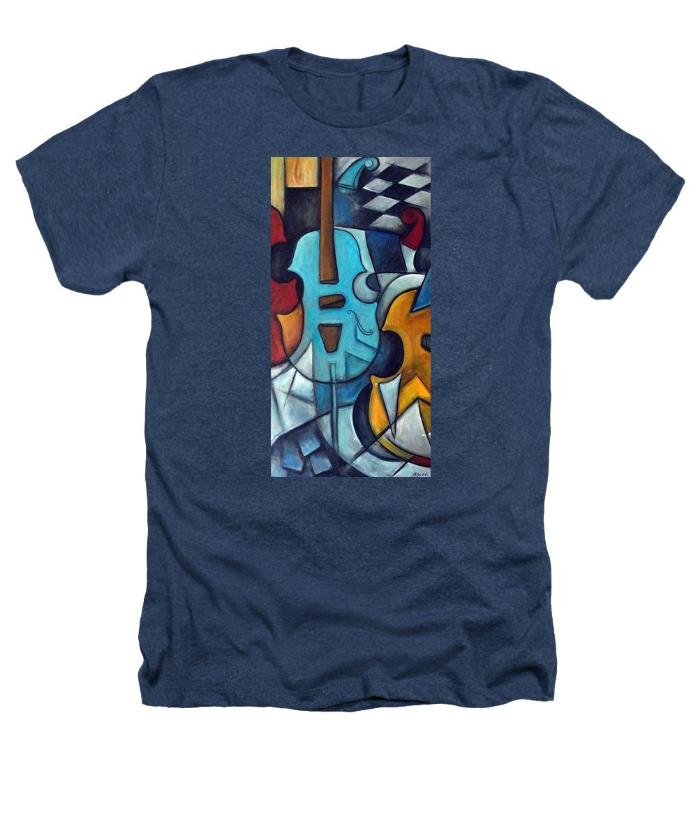 Music Heathers T-Shirt featuring the painting La Musique 2 by Valerie Vescovi