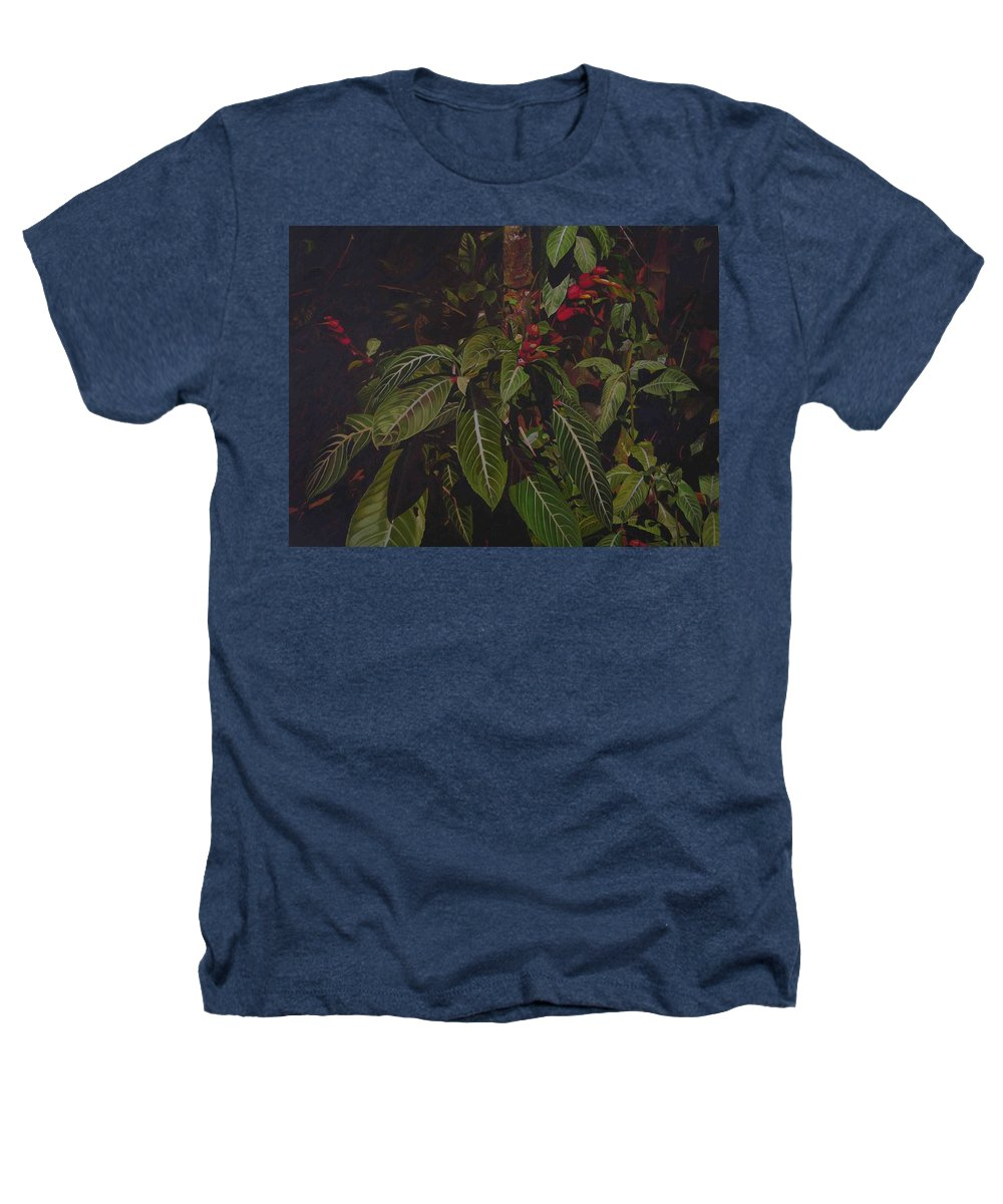 Leaves Heathers T-Shirt featuring the painting Leaving Monroe by Thu Nguyen