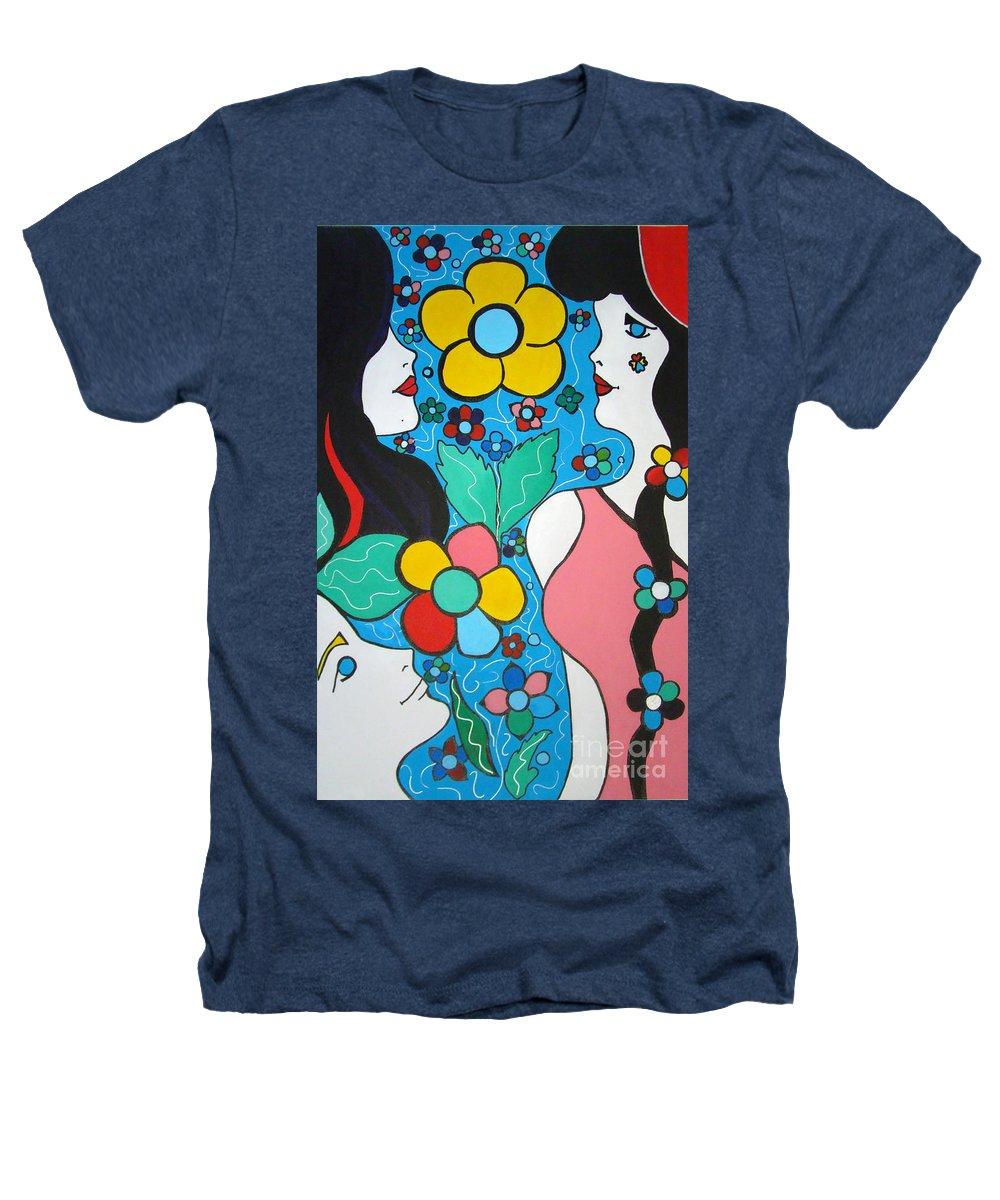 Pop-art Heathers T-Shirt featuring the painting Life Is Beautiful by Silvana Abel