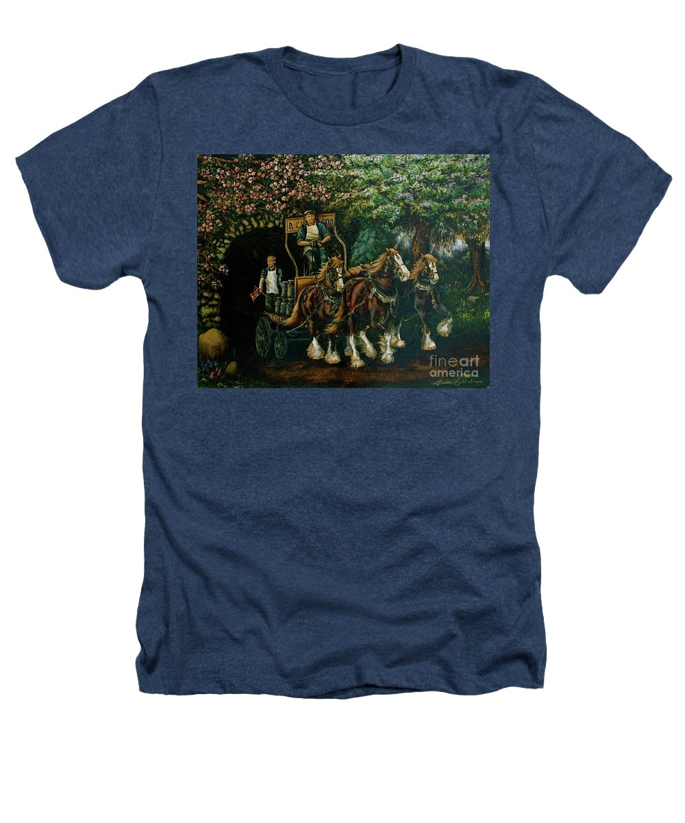 Heathers T-Shirt featuring the painting Light Touch by Linda Simon