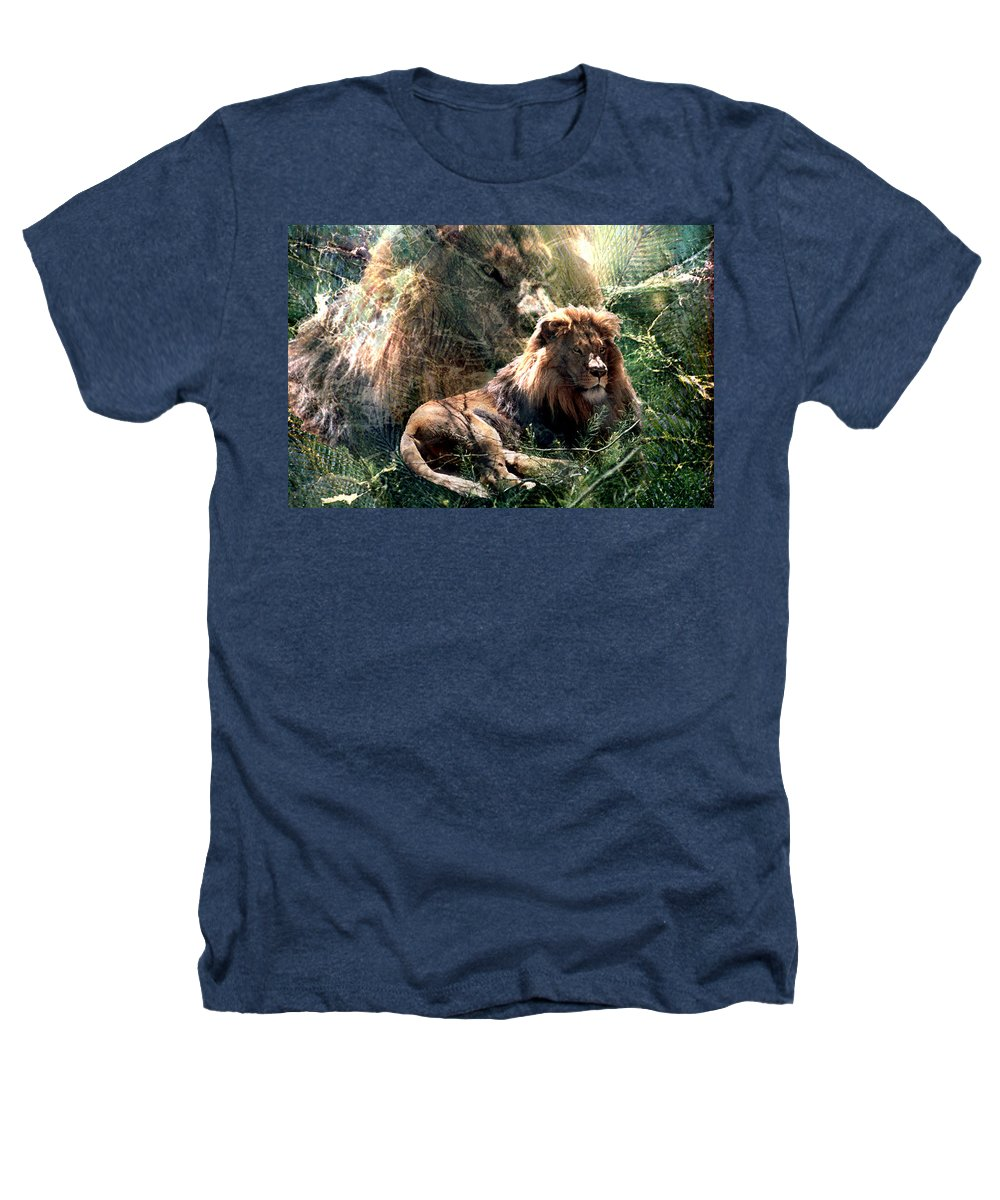 Lion Heathers T-Shirt featuring the digital art Lion Spirit by Lisa Yount