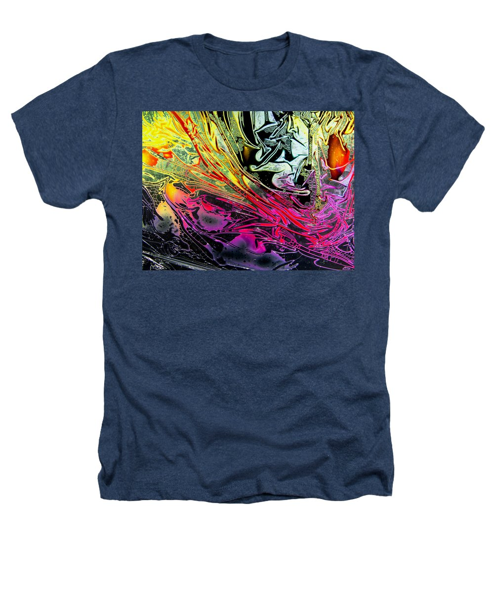 Surrealism Heathers T-Shirt featuring the digital art Liquid Decalcomaniac Desires 1 by Otto Rapp