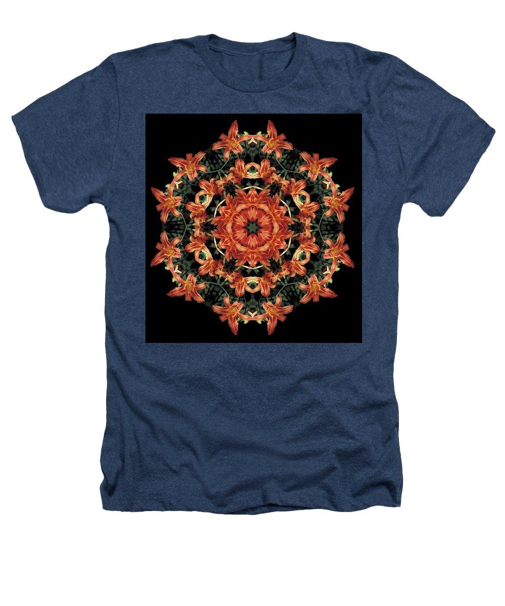 Mandala Heathers T-Shirt featuring the photograph Mandala Daylily by Nancy Griswold