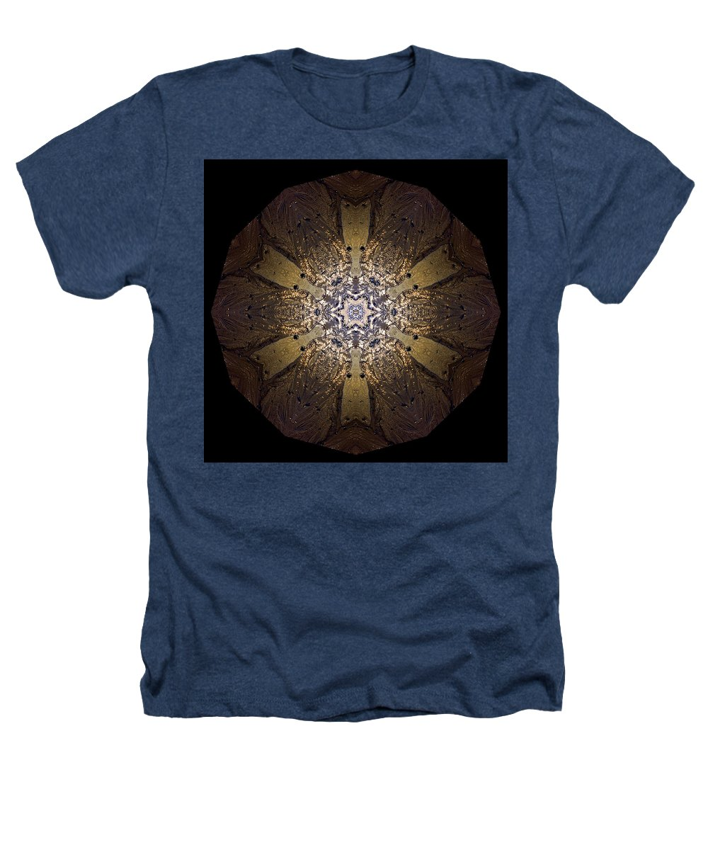Mandala Heathers T-Shirt featuring the photograph Mandala Sand Dollar At Wells by Nancy Griswold
