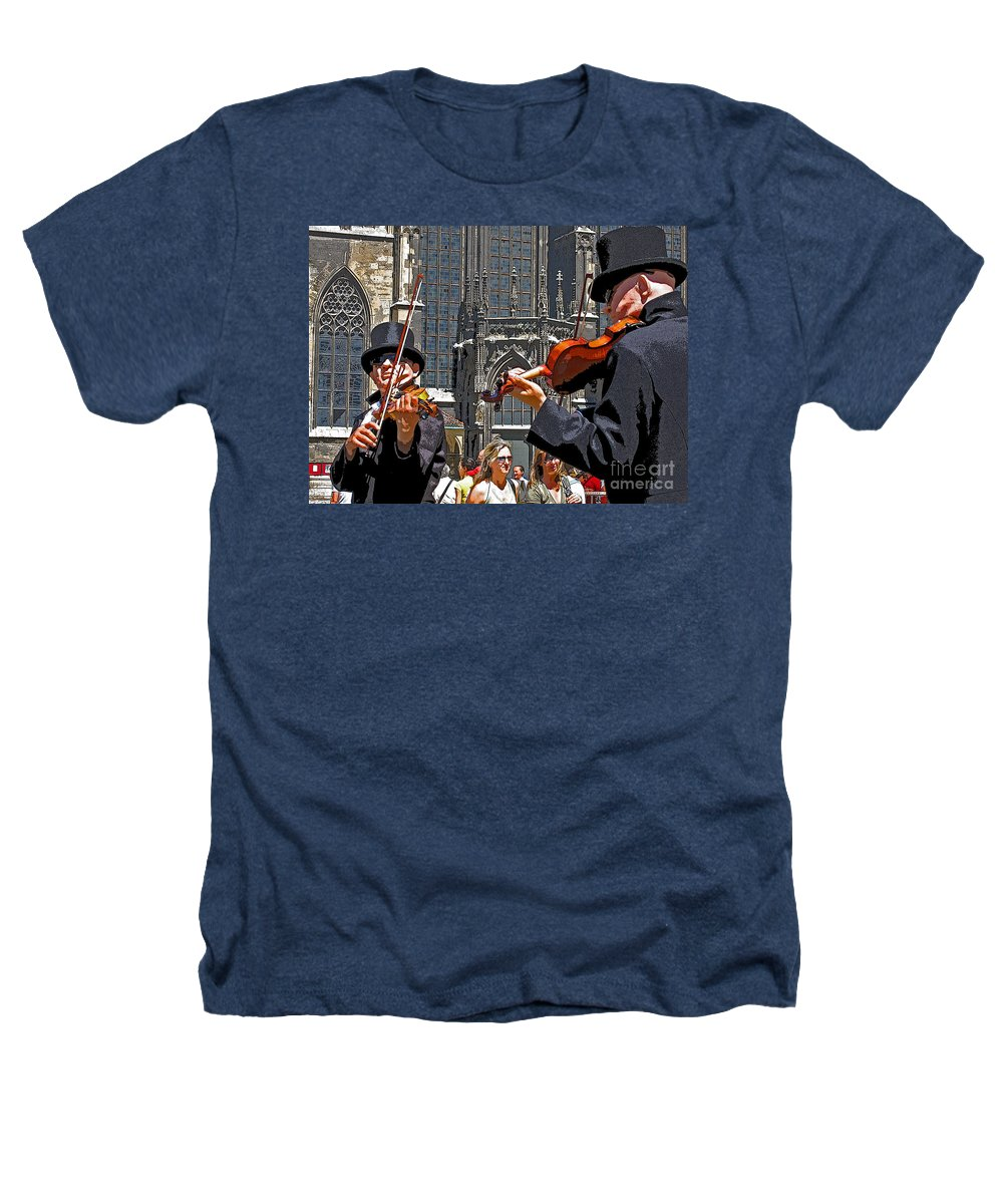 Buskers Heathers T-Shirt featuring the photograph Mozart In Masquerade by Ann Horn