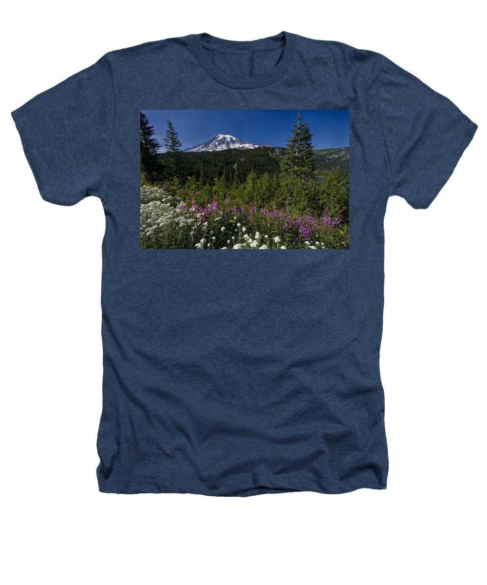 3scape Heathers T-Shirt featuring the photograph Mt. Rainier by Adam Romanowicz