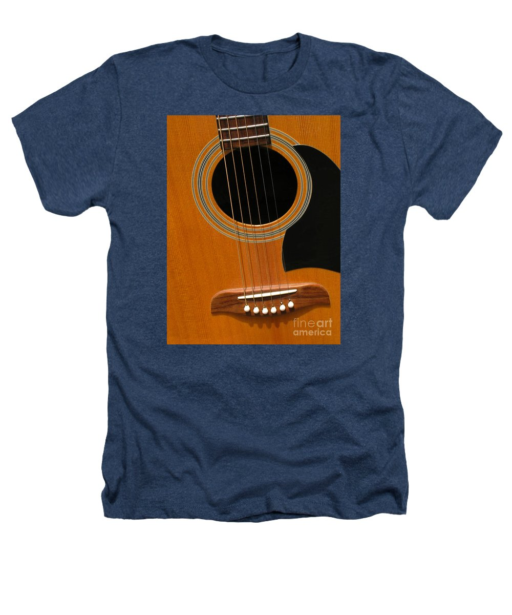 Guitar Heathers T-Shirt featuring the photograph Musical Abstraction by Ann Horn