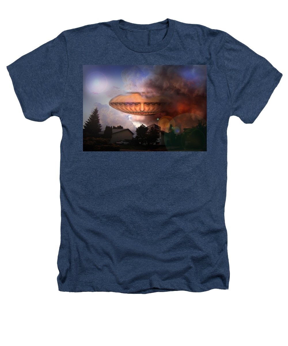 Surrealism Heathers T-Shirt featuring the digital art Mystic Ufo by Otto Rapp