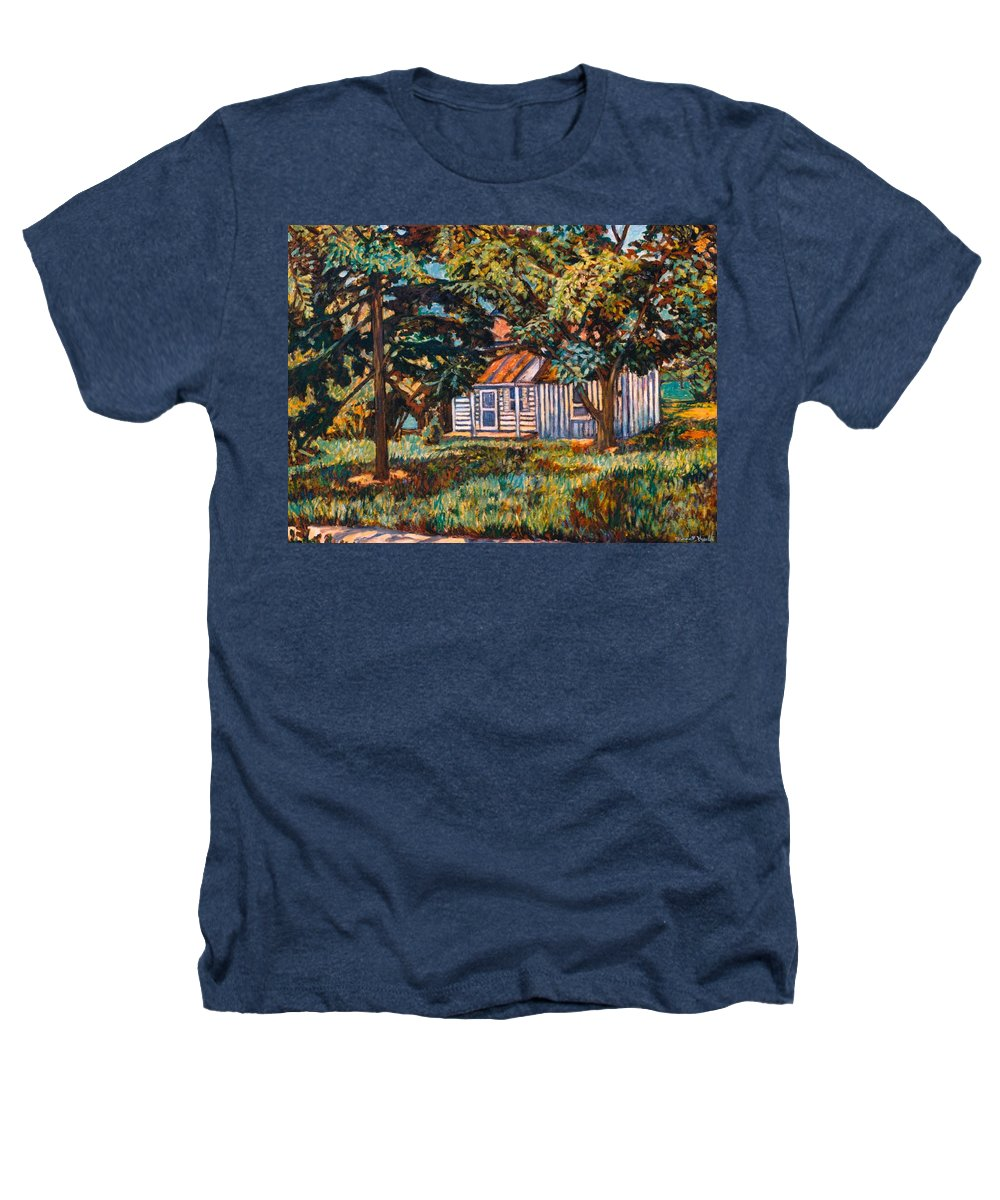 Architecture Heathers T-Shirt featuring the painting Near The Tech Duck Pond by Kendall Kessler