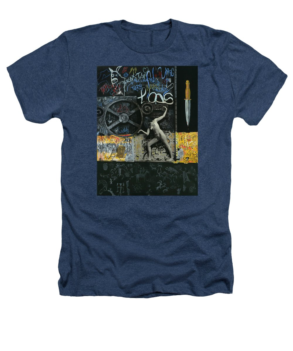 City Heathers T-Shirt featuring the painting New York City by Yelena Tylkina
