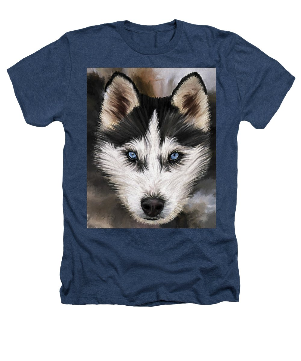 Dog Art Heathers T-Shirt featuring the painting Nikki by David Wagner