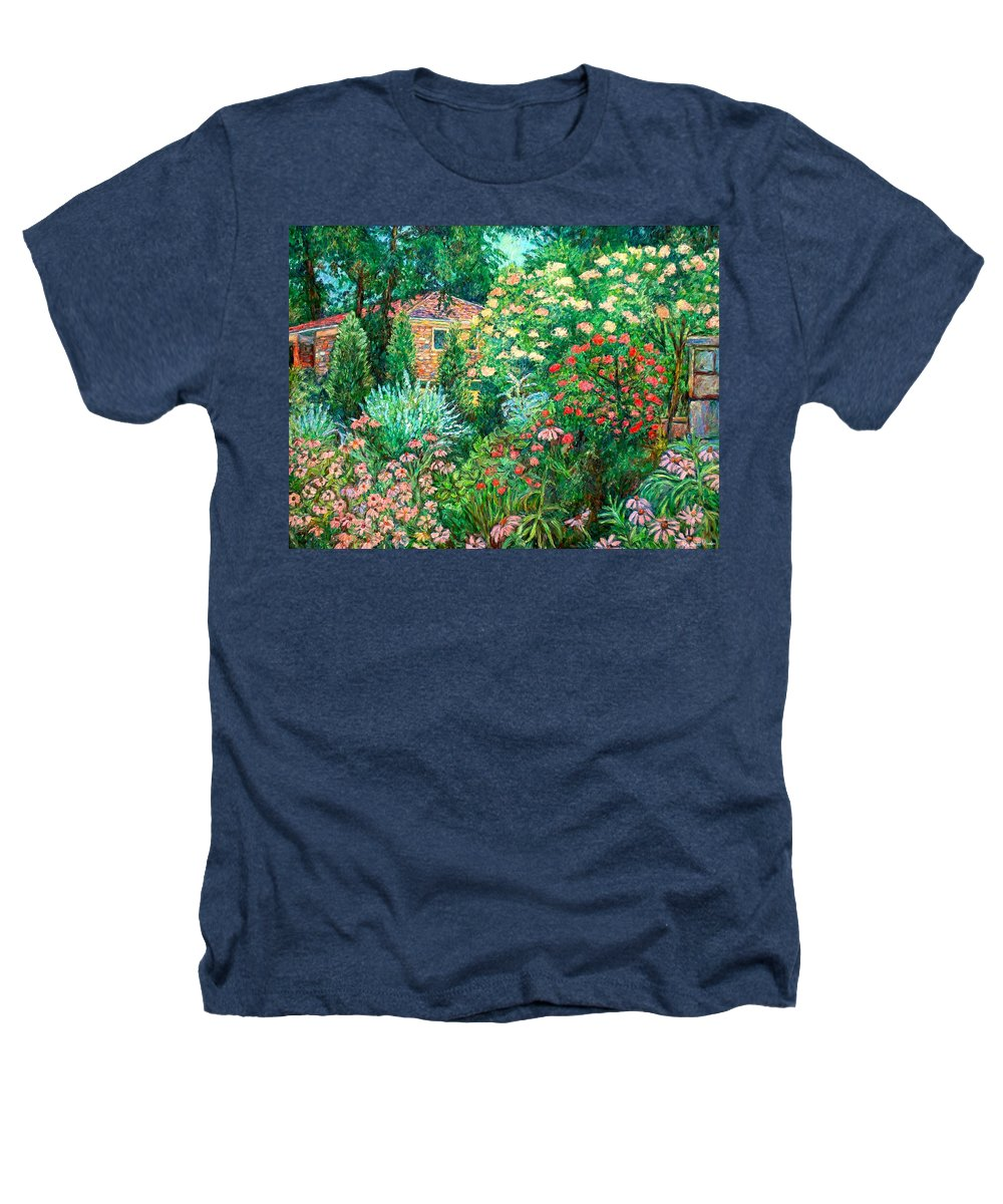 Garden Heathers T-Shirt featuring the painting North Albemarle In Mclean Va by Kendall Kessler
