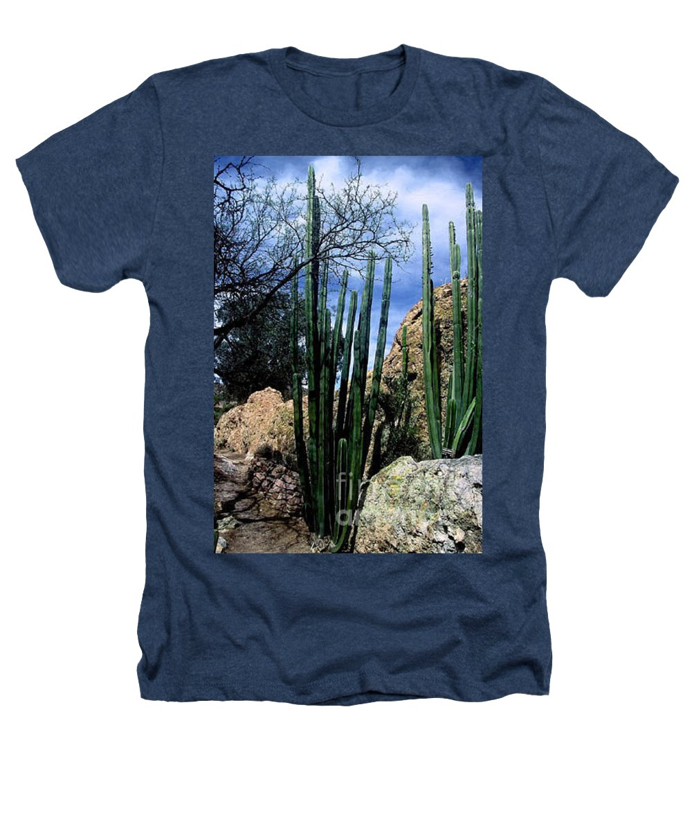 Cactus Heathers T-Shirt featuring the photograph Organ Pipe by Kathy McClure