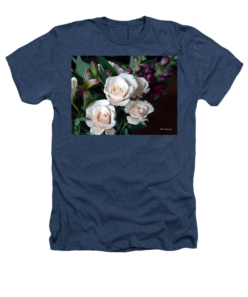 Flowers Heathers T-Shirt featuring the photograph Pardon My Blush by RC DeWinter