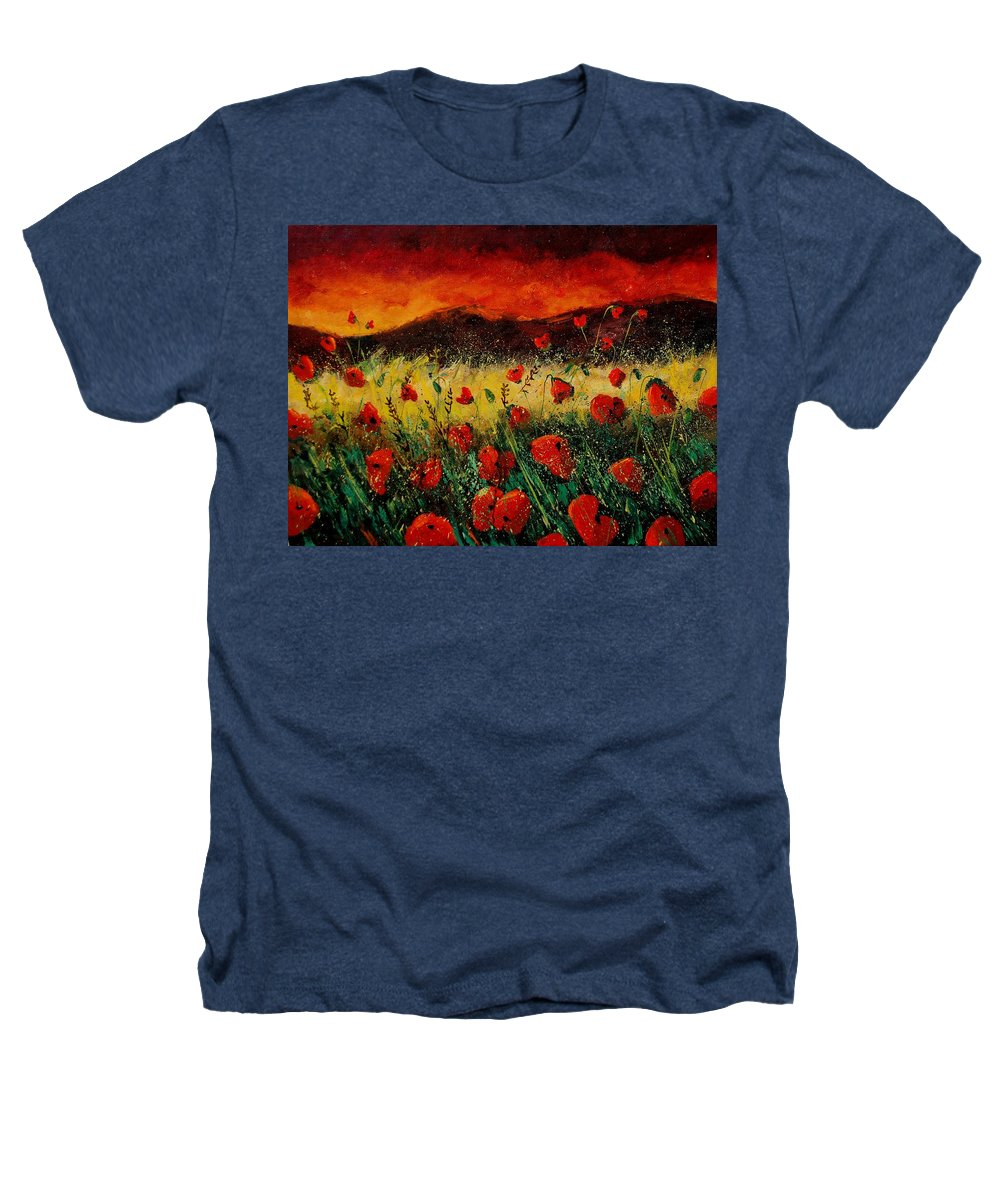 Poppies Heathers T-Shirt featuring the painting Poppies 68 by Pol Ledent