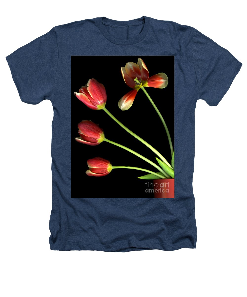 Scanography Heathers T-Shirt featuring the photograph Pot Of Tulips by Christian Slanec