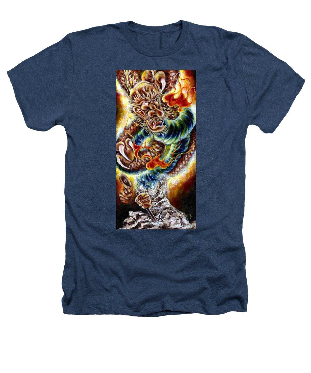 Caving Heathers T-Shirt featuring the painting Power Of Spirit by Hiroko Sakai
