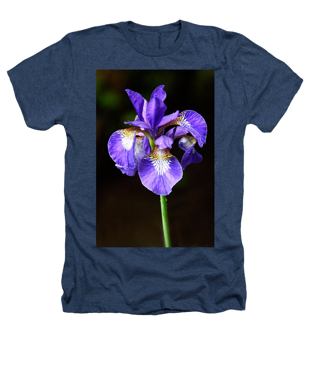 3scape Photos Heathers T-Shirt featuring the photograph Purple Iris by Adam Romanowicz
