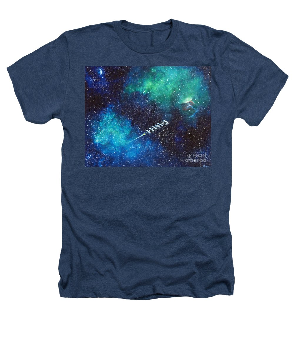 Spacescape Heathers T-Shirt featuring the painting Reaching Out by Murphy Elliott